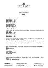 LEISTUNGSERKLÄRUNG Nr. B00_7 - Scherf
