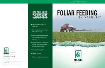 to View Our Foliar Brochure - NACHURS