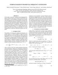 SUBSPACE-BASED FUNDAMENTAL FREQUENCY ESTIMATION