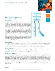 Phosphatidylserine. - Alternative Medicine Review 2008 - LifeWave