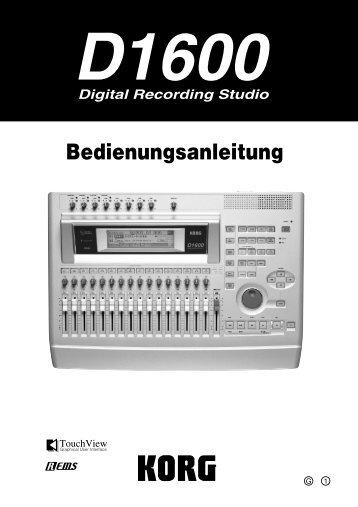 Handbuch für Korg D 1600 MK II - MidiSpecial