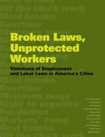Broken Laws, Unprotected Workers - Violations of Employment and