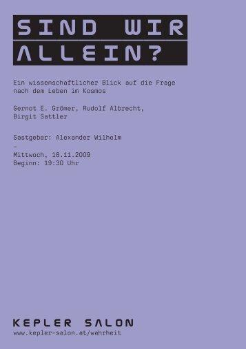 Heft_Groemer-Albrecht-Sattler_20091118.pdf - Kepler Salon