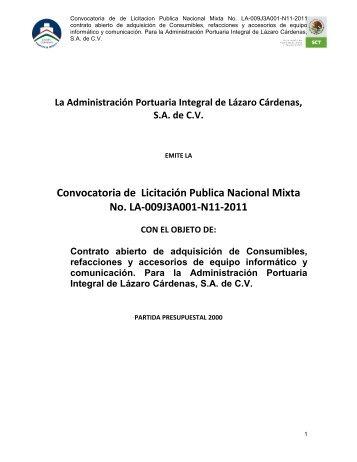 la administración portuaria integral de manzanillo, s - Puerto Lázaro ...
