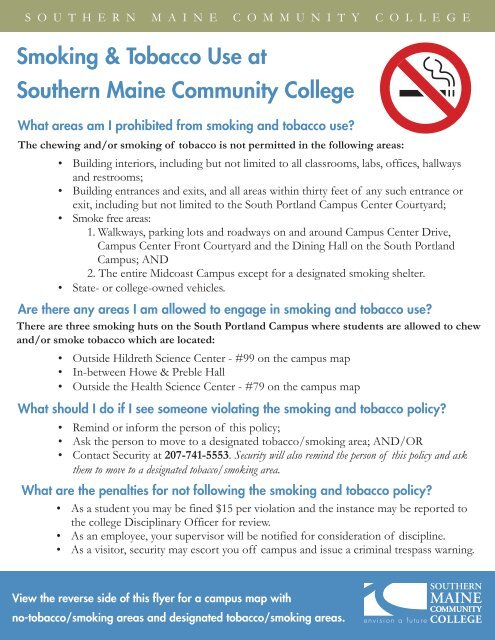 Smoking Policy Map.indd - Southern Maine Community College on