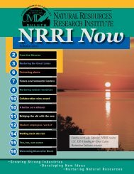 Autumn 2010 - Natural Resources Research Institute - University of ...