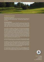 Geschichte des Golfclubs als PDF - Golfclub Schloss Goldenberg