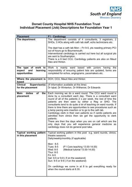 F1 Job Descriptions