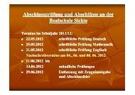 informationen zur abschlussprüfung rs - und Realschule Sickte