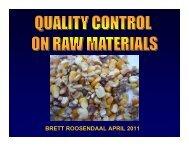 Raw Material Quality Control - Brett Roosendaalx - AFMA