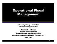 Operational Fiscal Management - Sigma Gamma Rho Sorority, Inc.