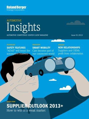 Automotive Insights 01.2013 - Roland Berger