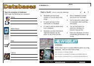 Page 1 Real-life examples of databases: HOW might the following ...