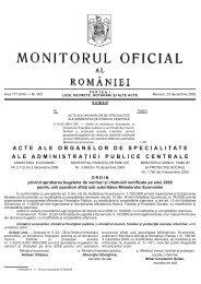 acte ale organelor de specialitate ale administrației publice centrale