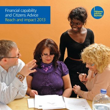 Financial capability and Citizens Advice Reach and impact 2013