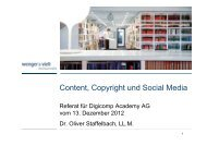 Content, Copyright und Social Media - Digicomp