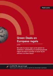 Factsheet Green Deals - Europa decentraal