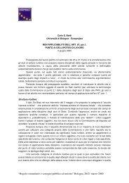 """""""Regole comunitarie e sostegno pubblico al turismo ... - Europroject"""