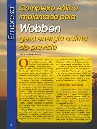 Complexo eólico implantado pela Wobben gera energia acima