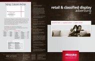retail & classified display advertising - Missoulian
