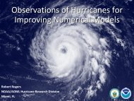 Observations of Hurricanes for Improving Numerical Models