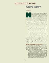 os JArdins botânicos e A Arte de pAsseAr - Ciência e Cultura