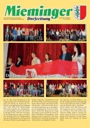 Mieminger Dorfzeitung Juni 2009 - Gemeinde Mieming - Land Tirol
