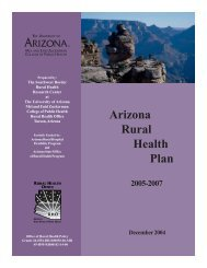 Arizona Rural Health Plan 2005-2007 - Arizona Center for Rural ...