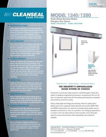 Excel 1240 / 50 - Cleanseal Doors