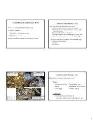 Earth Materials: Sedimentary Rocks