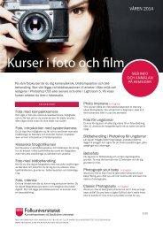 Kurser i foto (pdf) - Folkuniversitetet