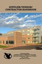 supplier/vendor/ contractor handbook - Laramie County Community ...