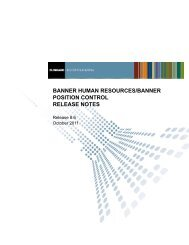 Banner Human Resources/Banner Position Control