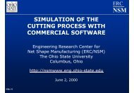 simulation of the cutting process with commercial software