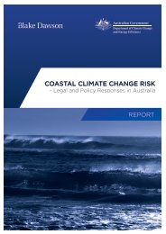 Coastal Climate Change Risk - Legal and Policy Responses
