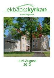 Juni-Augusti 2013 - Svenska Missionskyrkan