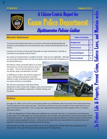 Guam Police Department (GPD) - The Office of Public Accountability