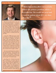 Micro-liposuction allows us to actually address the ... - MIINews.com