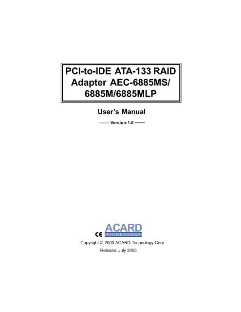 Acard AEC-6896/S Driver Download
