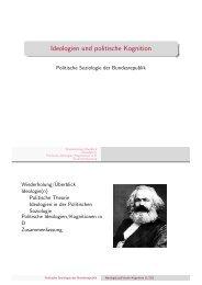 Ideologien und politische Kognition - Kai Arzheimer