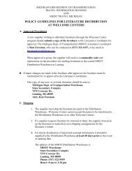 Policy Guidelines for Literature Distribution at ... - Travel Michigan