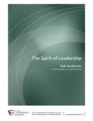The Spirit of Leadership - The Leadership Circle