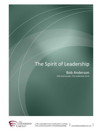 The Spirit of Leadership - The Leadership Circle