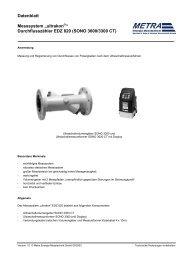 "Datenblatt Messsystem ""ultrakon ... - METRA Energie"