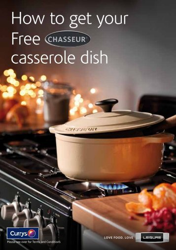 How to get your Free casserole dish - E-Merchant