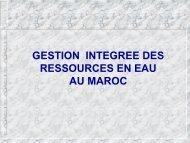 Gestion intégrée des ressources en eau au Maroc