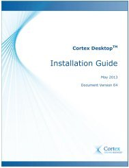 Installation Guide - Cortex Business Solutions Inc. - Page