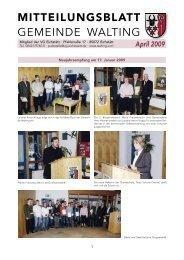 Mitteilungsblatt April 2009 - Archiv - Walting