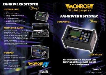PDF Monroe Fahrwerkstester Broschüre - Tenneco