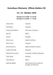 Offene Ateliers 2006 - Elke Kim
